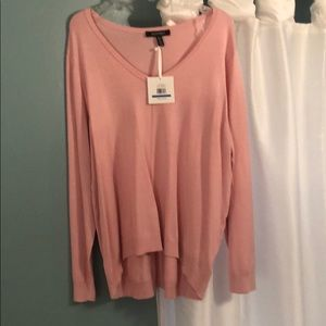 Nice new pink sweater high low.